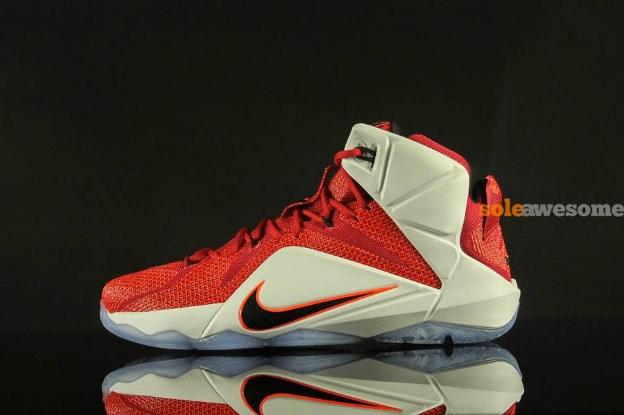 2d514153fbf Nike LeBron XII (12) Red White  Lion Heart
