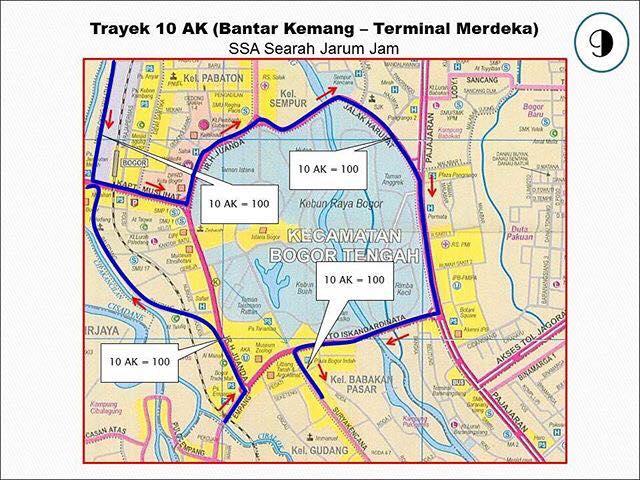 Rute Angkot Bantar Kemang-Terminal Merdeka