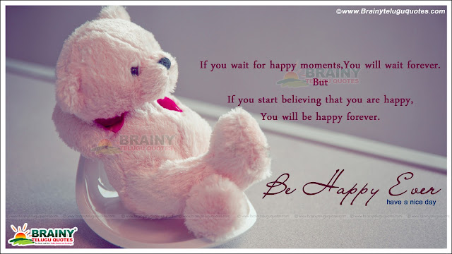 Be Happy ever Life Quotes in English with Teddy bear hd ...