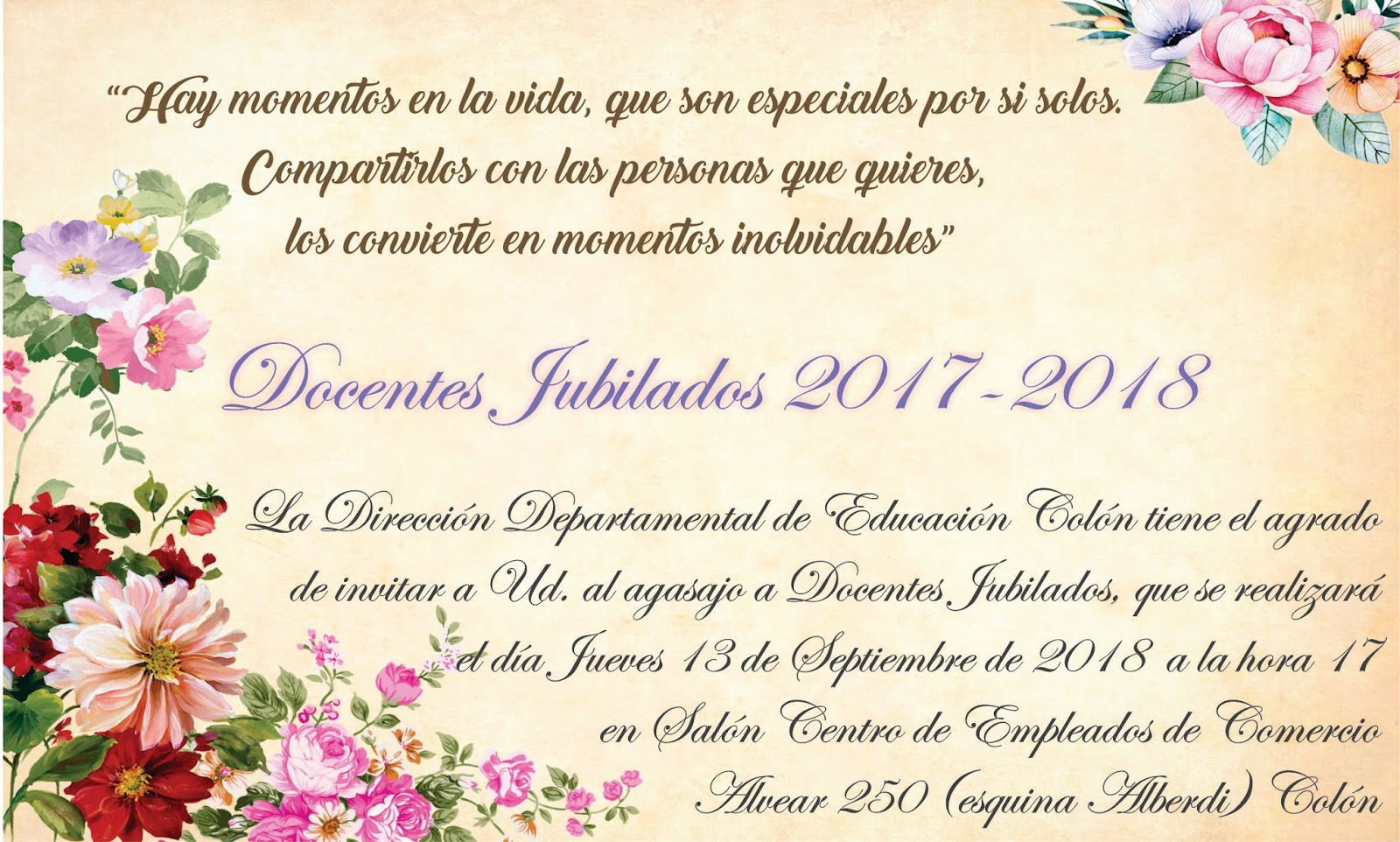 Dirección Departamental De Escuelas De Colón Invitación