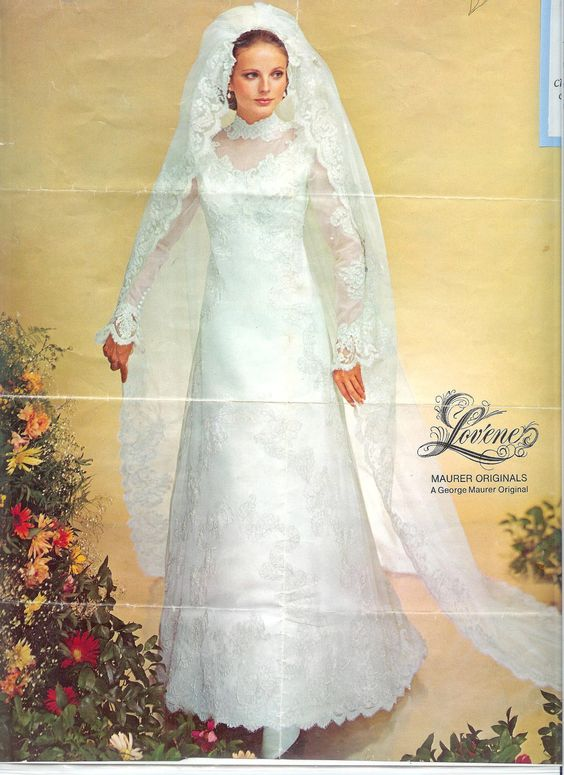 Bride chic bridal fashion of the 1960s 70s for 1970 s style wedding dresses