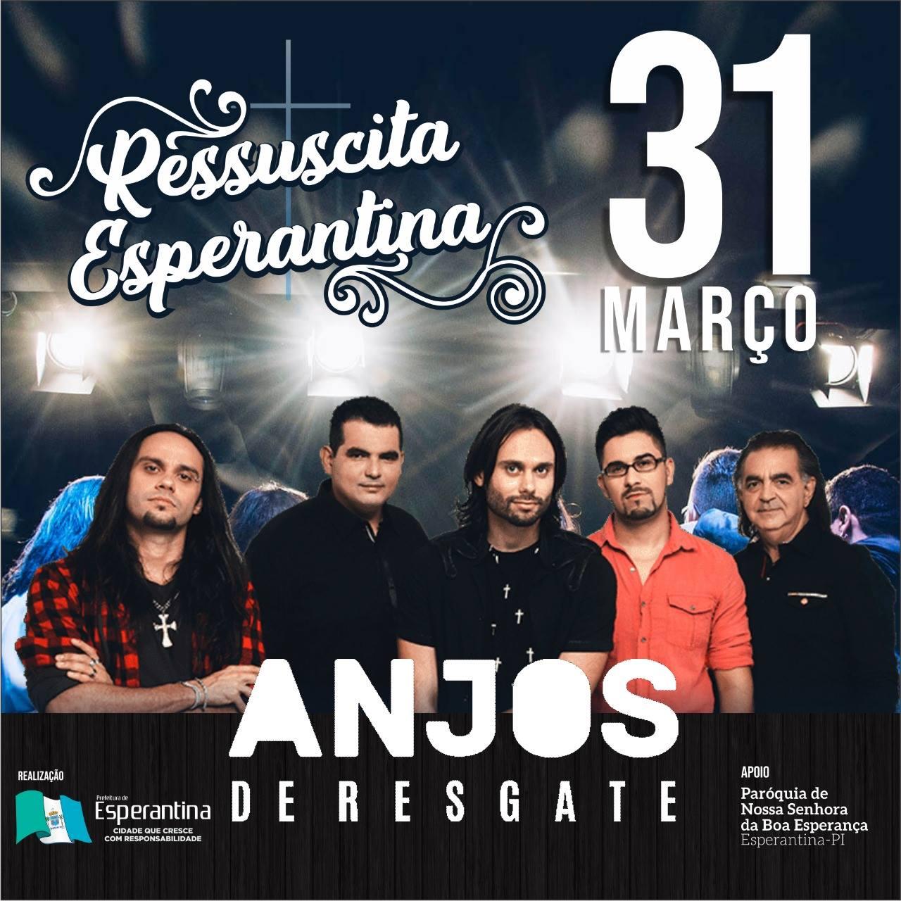 Banda Anjos de Resgate fará show em Esperantina-PI