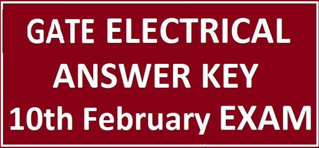 GATE Electrical Engineering Answer Key