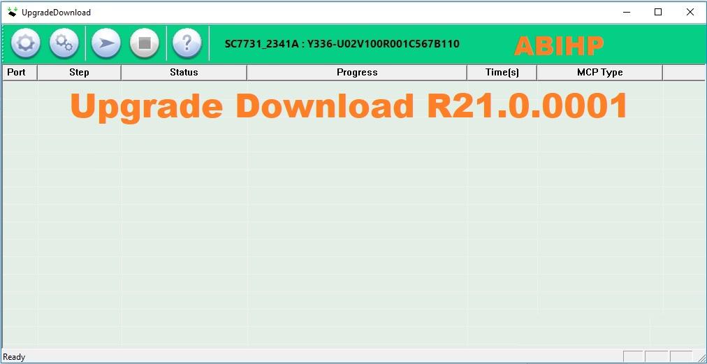 Lakukan proses flashing dengan menggunakan versi Upgrade Download R21.0.0001.