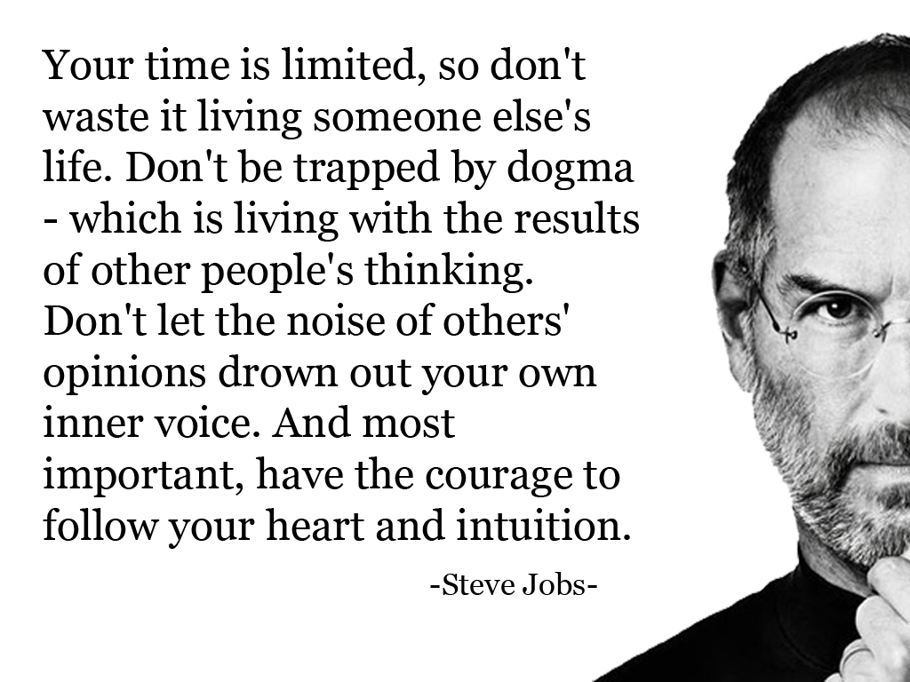Steve Jobs Quotes Your Time Is Limited Wallpaper World Of Quotes Your Time Is Limited Follow Your Heart