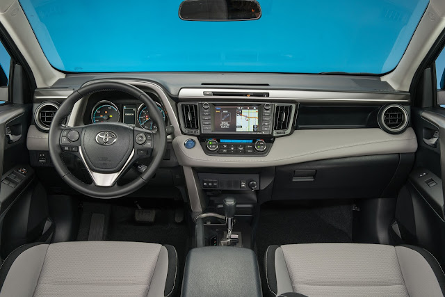Interior view of 2016 Toyota RAV4 Hybrid XLE