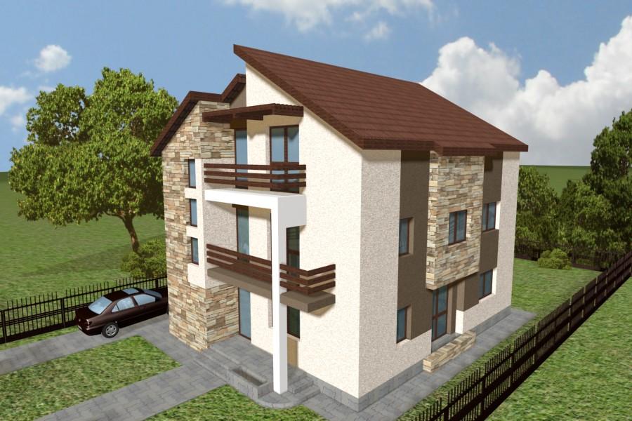 Proiecte case mici proiecte case cu etaj si mansarda for Proiecte case cu garaj si mansarda