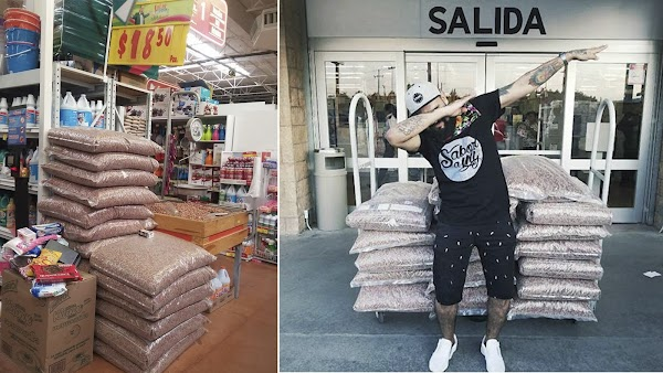 Por error de Soriana un joven compra 18 bultos de croquetas para perro por $333 pesos en SLP y lo presume en facebook