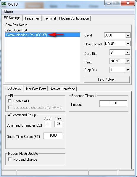 Arduino basics uno xbee setup