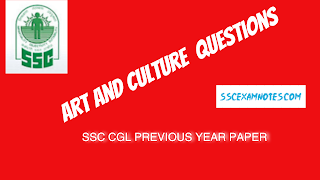 From art and culture  Questions Asked in ssc cgl