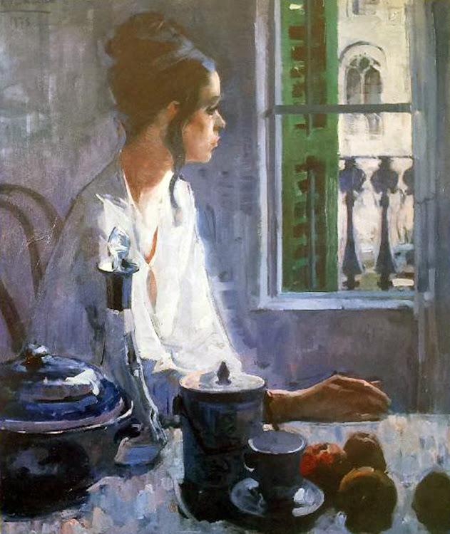 Retrato de mujer (1975), Félix Revello de Toro, Revello de Toro, Pintores Malagueños, Retratos de Revello de Toro, Pintor español, Pintores de Málaga