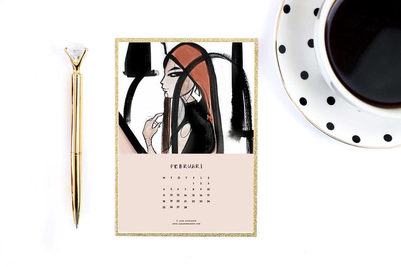 ładny kalendarz 2019 do druku do pobrania za darmo