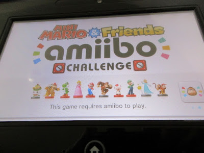 Mini Mario & Friends amiibo Challenge title screen Wii U GamePad