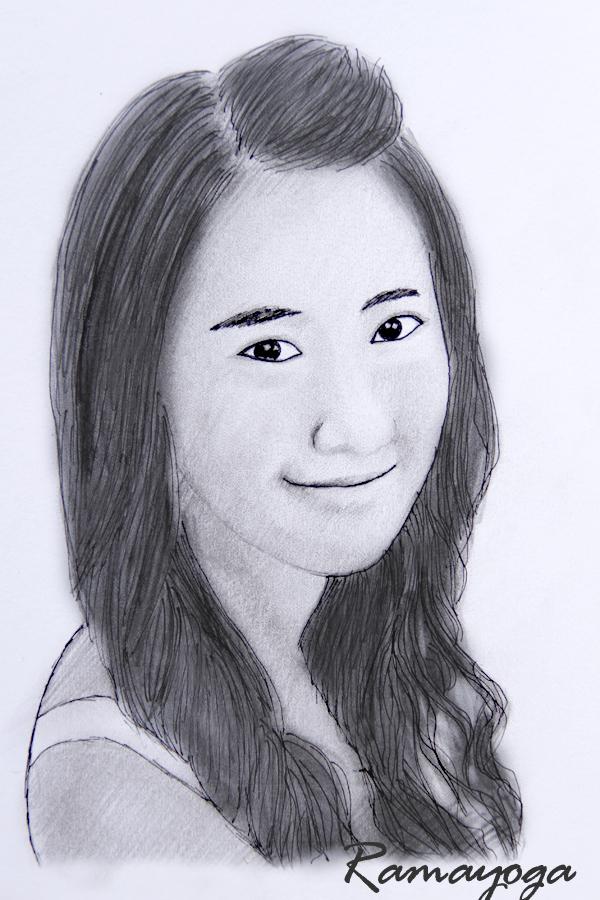 sketsa cantik