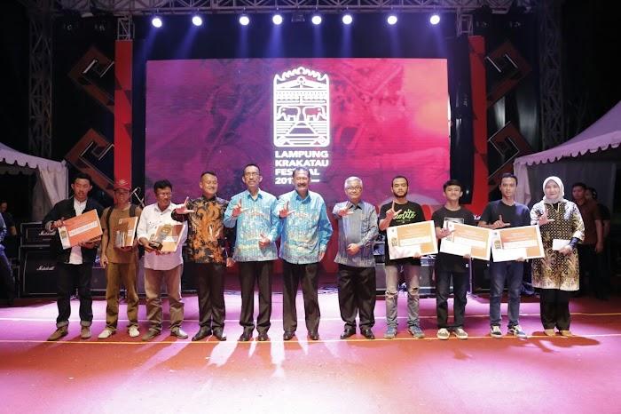 Malam Puncak Krakatau Award, Lampung Krakatau Festival (LKF) XXVII Tahun 2017.