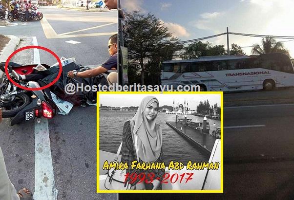 SAYU !! Rehat lah dengan tenang mira.. Dia digilis bas parah dikepala ketika pulang dari menziarah keluarga nya (8 Gambar)