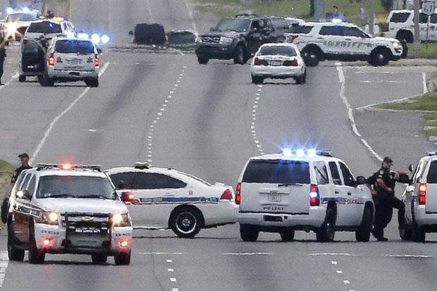 Tiga personel polisi Baton Rouge, Louisiana, Amerika Serikat Ditembak Mati