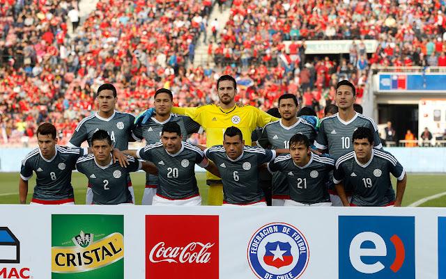 Formación de Paraguay ante Chile, amistoso disputado el 5 de septiembre de 2015