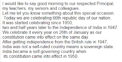 Short Republic Day Speech
