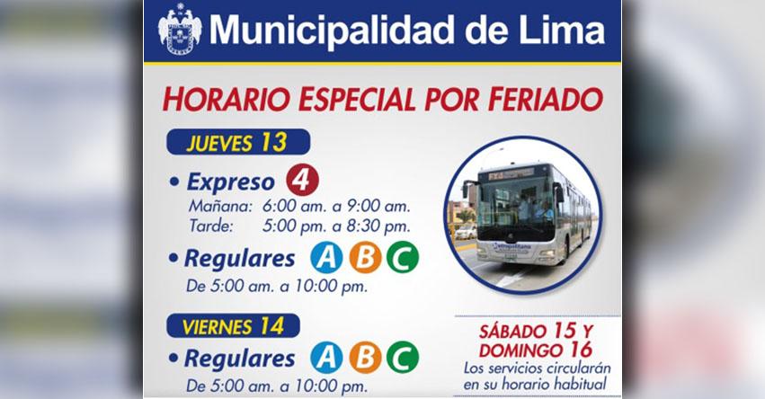 EL METROPOLITANO: Servicio de transporte tendrá horario especial durante feriado de Semana Santa, informó Pro Transporte