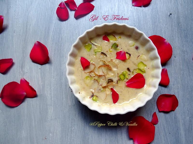 gil e firdaus recipe