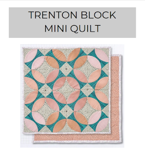 Trenton block mini quilt pattern Charm About You