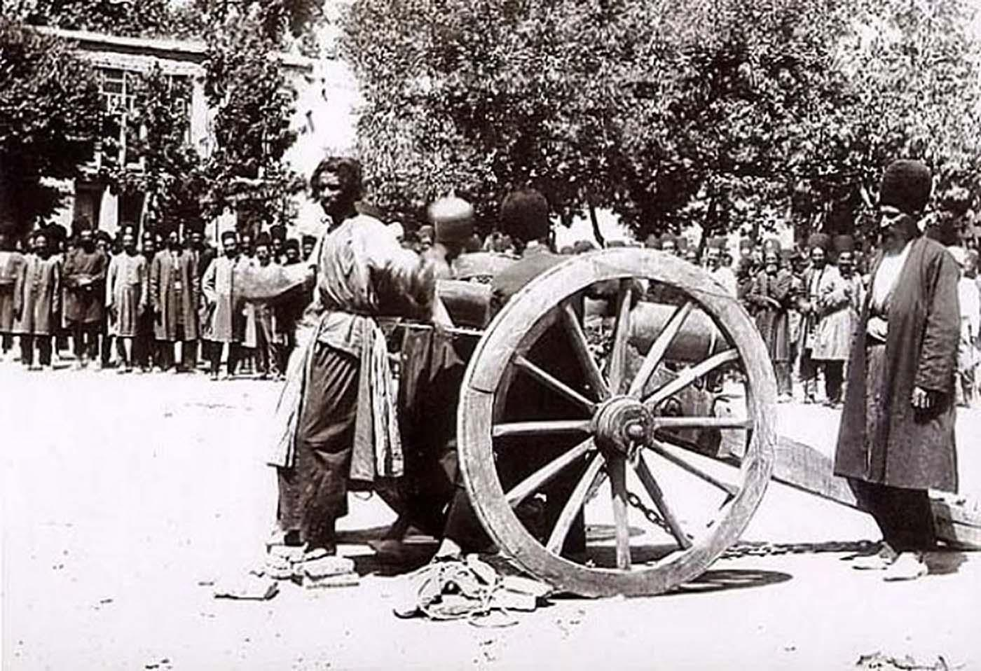 Execution by Cannon in Shiraz, Iran, Mid-Late 19th Century