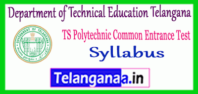 TS POLYCET Department of Technical Education Syllabus