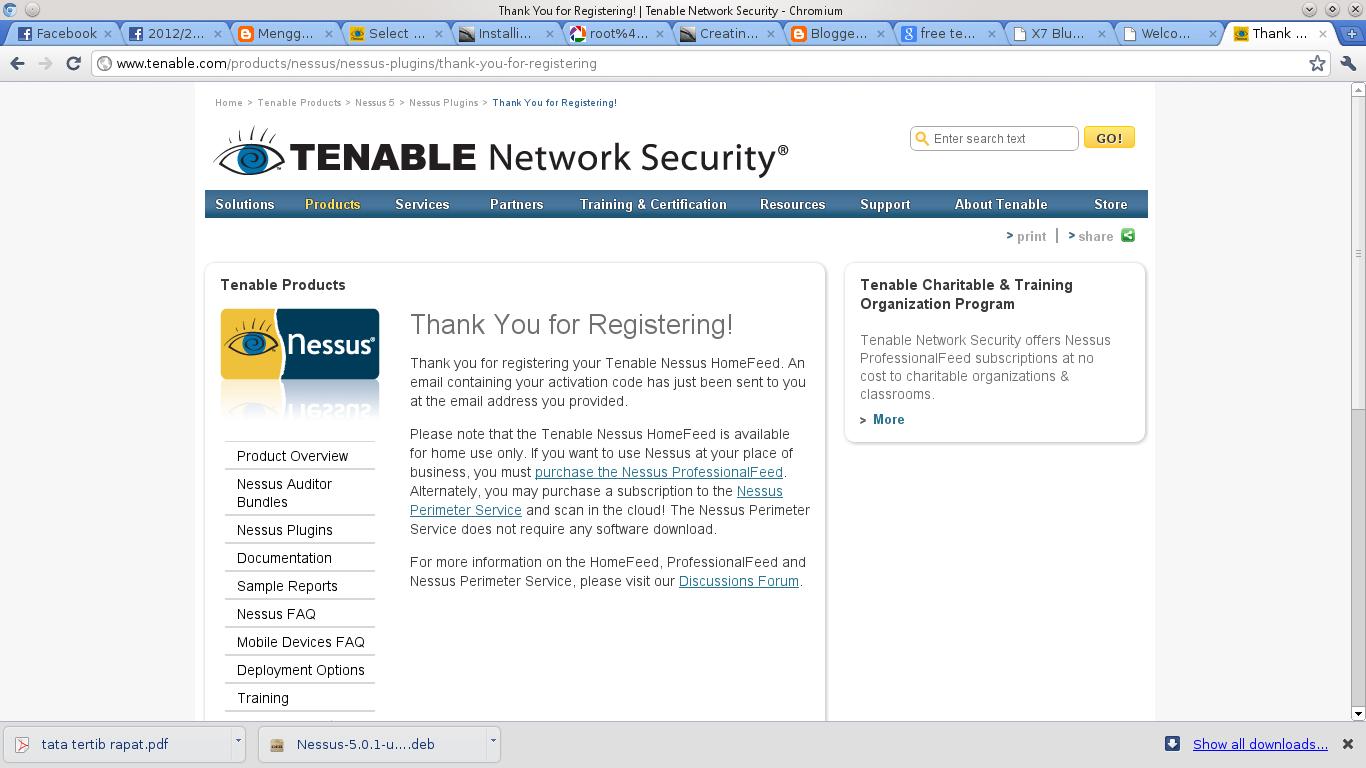 Installing Nessus on backtrack | scxo2oco71