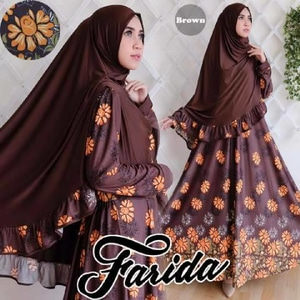 Agen Gamis Syar'i Cantik Farida Brown