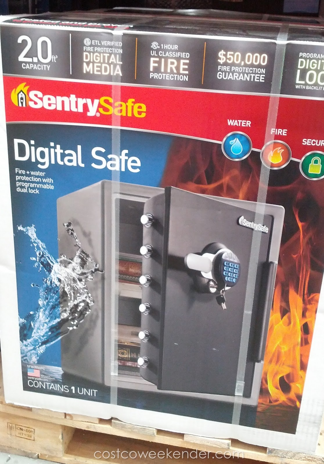 SentrySafe SFW205GPC Digital Safe | Costco Weekender