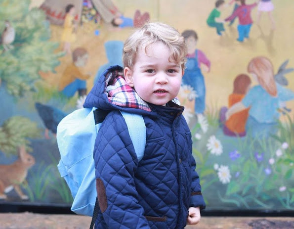 Prince George of Cambridge was enrolled in the same school in London, which his father Prince William and uncle Prince Harry. Royals Tiara, Diamond earrings, weddings royal dress