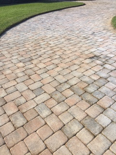 how to get oil stains off brick pavers