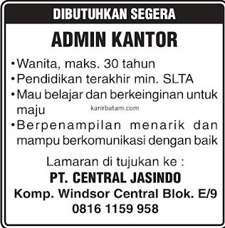 Lowongan Kerja PT. Central Jasindo Batam