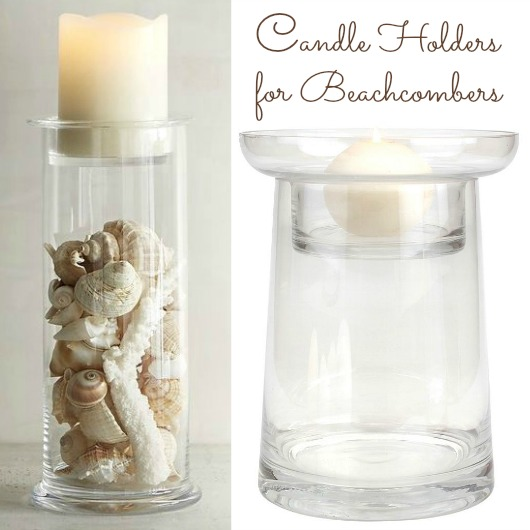 Fillable Glass Candle Holders