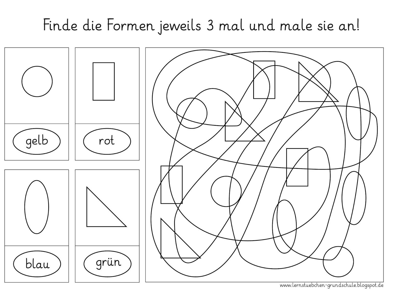 Lernstübchen: Formen finden (1) - die visuelle Wahrnehmung schulen