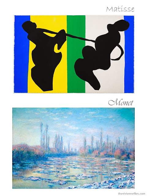 The Cowboy by Henri Matisse and Impression of a River by Claude Monet
