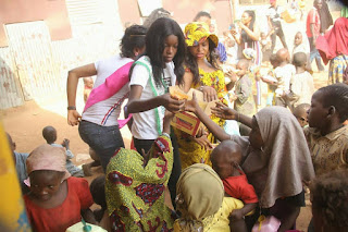 Queen Silva Chidera, Miss Indigenous South East Feeds and Empowers 400 Kids In Abuja