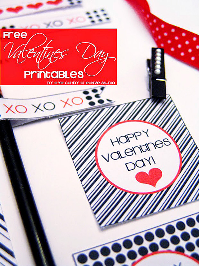 XO, valentines day freebies, black & white valentines, free valentines
