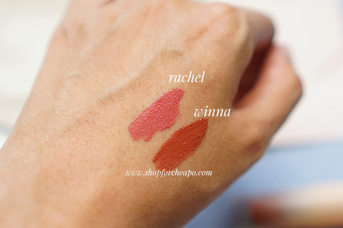 Swatch & Review Dear Me Perfect Matte Lipcoats Winna & Rachel