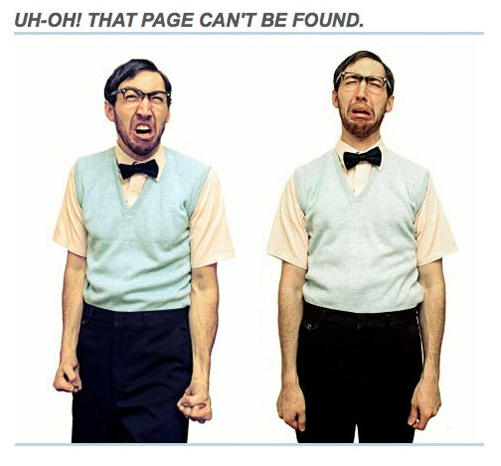 uh oh that page can't be found