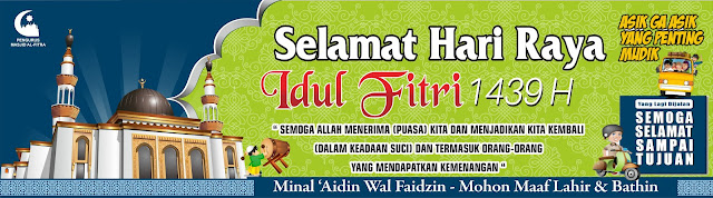 Contoh Spanduk Idul Fitri Terbaru