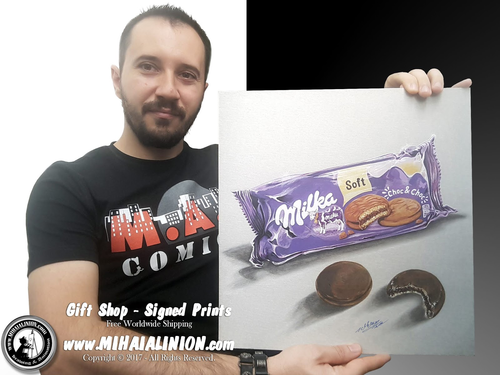 Drawing Drawing Milka Choco Biscuits, Drawing sweets, Drawing Milka, biscuits, biscuits illustration, la petite marmotte, la vache mauve, painting biscuits, mondelez international, Phillipe Suchard, How to draw Milka, chocolate pencil drawing, illustrations by mihai alin ion, MAI Comics, Mihai Alin Ion, art by mihai alin ion, how to draw, artselfie, drawing ideas, free drawing lessons, drawing tutorial, art, dessin, disegno, dibujo, drawing for kids, drawing, illustration, painting, design, realistic 3d art, coloured pencils, www.mihaialinion.com, 2018, pencil drawing, tempera, acrilics paint, marker, gouache painting, mixed media, comics, comic book, caricature, portrait, cum sa desenezi, caricaturi mihai alin ion, caricaturi si portrete  la comanda, eveniment caricaturi, caricaturi la nunta, caricaturi la botez, caricaturi la majorat, desene pe pereti, desene pentru copii, ilustratie carte, benzi desenate, caricaturi, portrete, comanda caricaturi