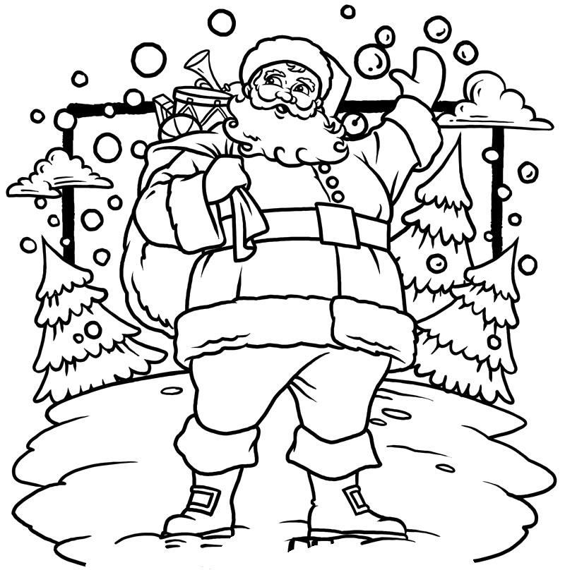 Christmas Santa Claus Drawings   Christmas Wallpaper