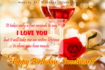 Happy Birthday Wishes And Quotes For the Love Ones: it take only a few seconds to day i love you