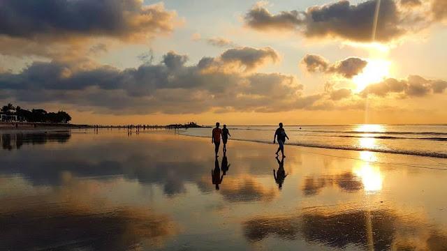 84 background pemandangan pantai sunset Terbaik