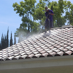 Roof cleaning Orange County by the professionals at Stanley Window Care.
