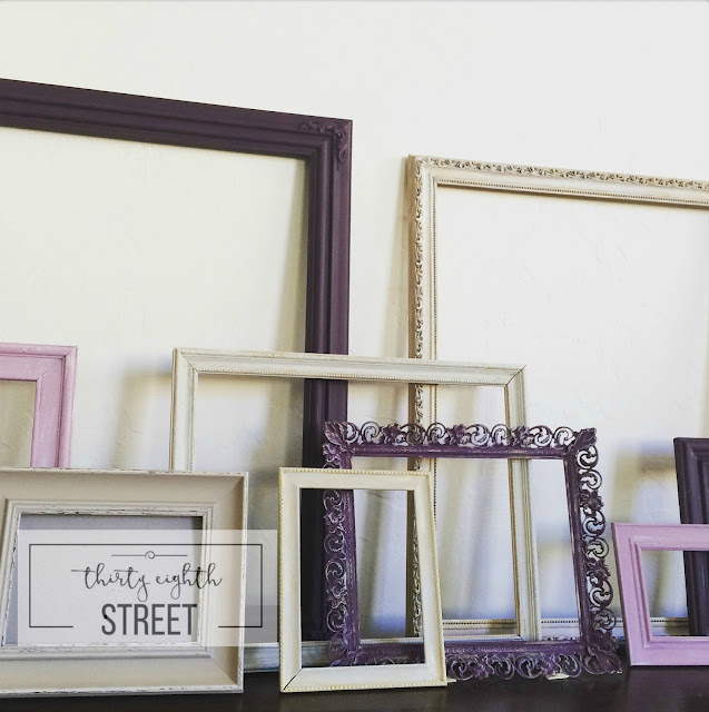 how to up cycle picture frames, how to make a gallery wall for cheap, how to make an inexpensive gallery wall, painting frames