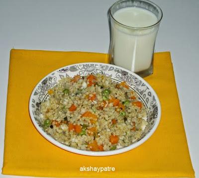 dalia upma in a serving plate