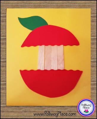 Apple Craft: Craft Stick Apple Step 1